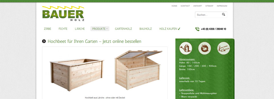 Screenshot bauer-holz.at